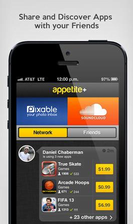 Appetite + . Fai conoscere le tue App agli amici. 1