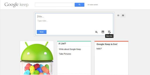 Google Keep, il post è servito 1
