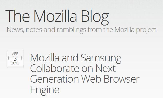 Prove di partnership tra Mozilla e Samsung con Servo. 1