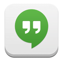 Hangouts visto dal vivo su dispositivo mobile 1