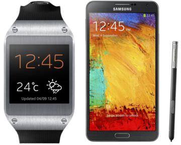 Una infografica di Samsung mostra le diverse feature del Galaxy Note 3 e del nuovo Galaxy Gear 1