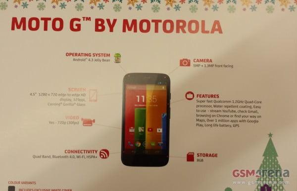 Motorola pronta a rilasciare il Moto G 1