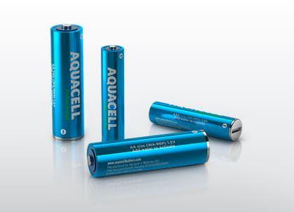 In arrivo le batterie riciclabili attivabili con l'acqua! 1