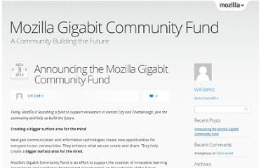 Mozilla prepara un fondo per lo sviluppo Open Source di reti gigabit 1
