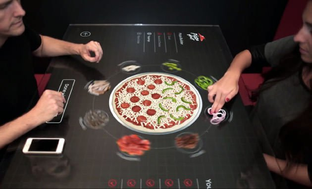 Pizza Hut e l'ordine touch 1