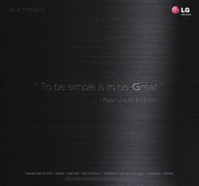 LG presenterà il suo nuovo G3 il 27 maggio 1