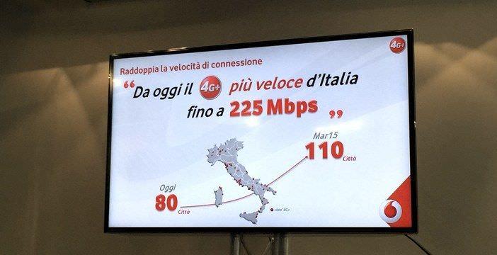 Vodafone attiva la rete 4G+ a 80 città italiane 1