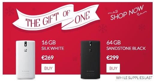 OnePlus One offerta natalizia