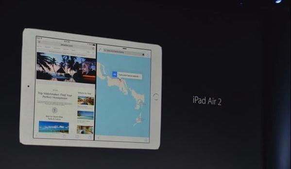 Split view iOS