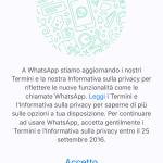 Guida su come disattivare le nuove condizioni di Whatsapp 2