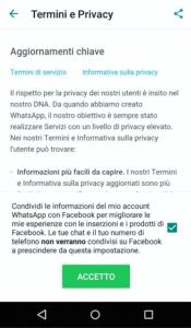 Guida su come disattivare le nuove condizioni di Whatsapp 6