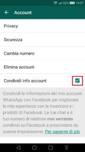 Guida su come disattivare le nuove condizioni di Whatsapp 7