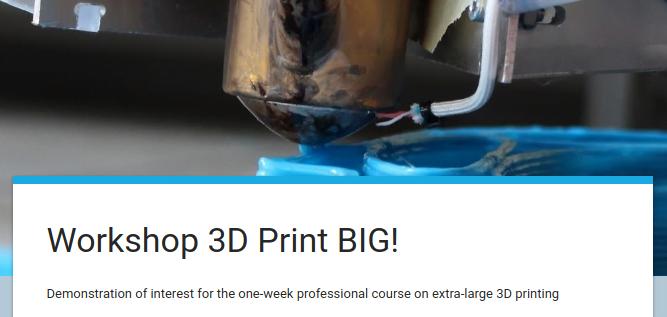 Opendot e WASP propongono un corso professionale intensivo sulla stampa 3D in grandi dimensioni 1