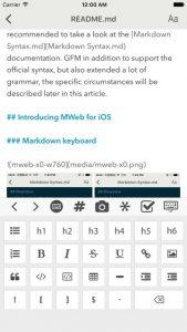 Mweb un altro editor Markdown per i dispositivi Apple 5