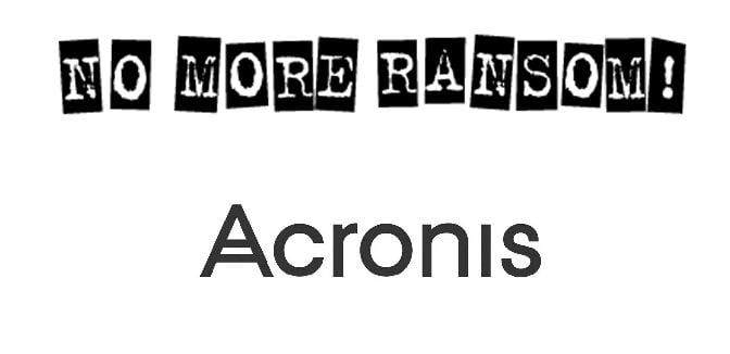 """Acronis è partner dell'iniziativa """"No More Ransom"""" 1"""