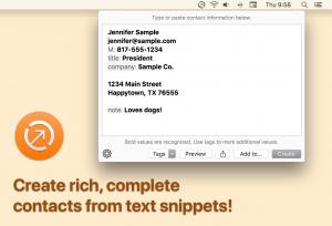 Interact Scrachpad: creare nuovi contatti nella rubrica del Mac con piccoli tocchi 2