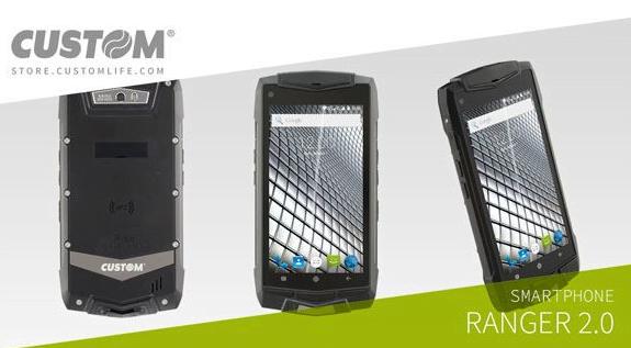 """RANGER 2.0, il primo smartphone Android """"rugged"""" di Custom 1"""