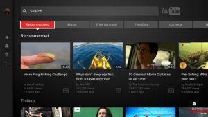 Aggiornamento di YouTube su SHIELD Android TV 2