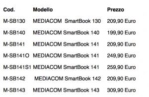 La linea SmartBook di Mediacom si rinnova con tante nuove proposte 2