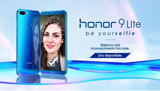 Honor annuncia il riconoscimento facciale per Honor 9 Lite 1