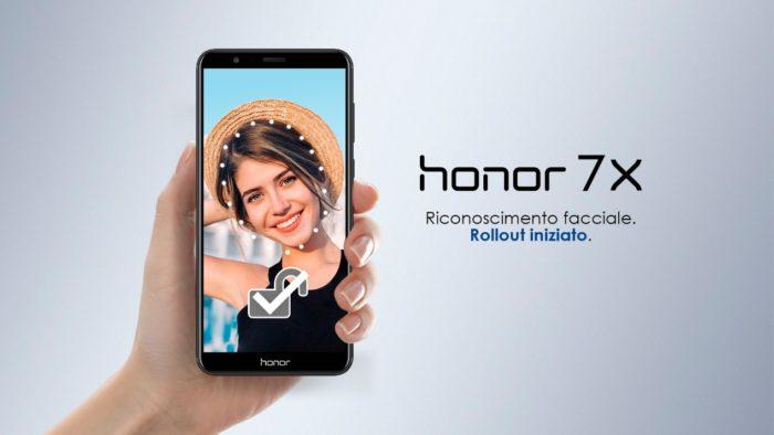 Sblocco facciale e l'aggiornamento EMUI 8.0 per Honor 7X 1