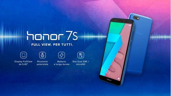 Honor lancia 7S: display Full View per tutti! 1
