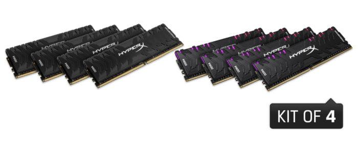 HyperX espande la linea delle Predator DDR4 RGB e Predator DDR4 1