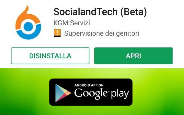 É disponibile la nuova app di SocialandTech per Android! 1
