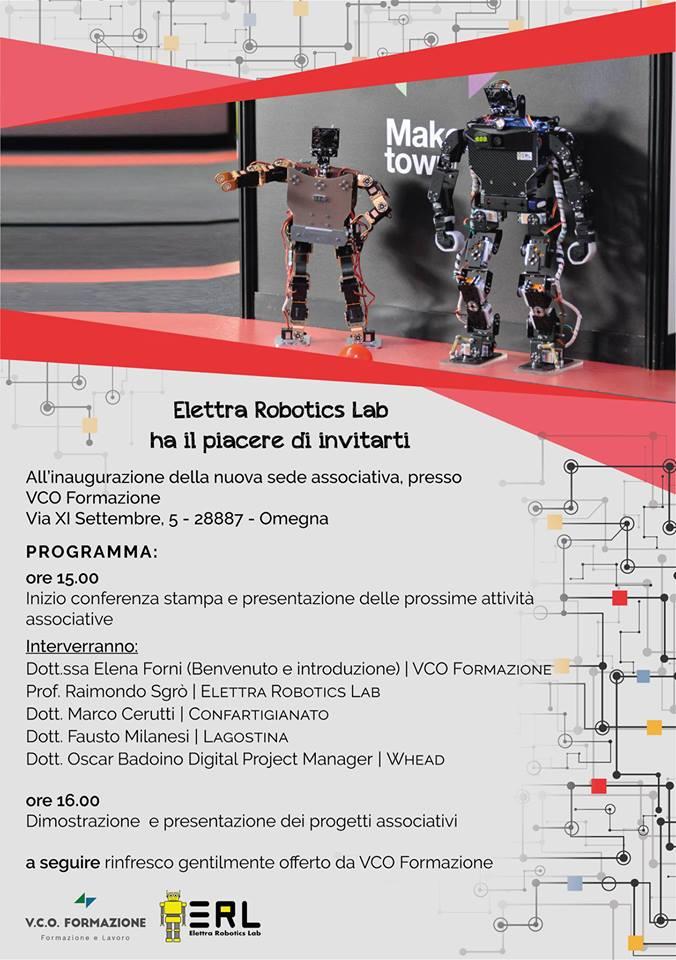 """Inaugurazione della nuova sede operativa  di """"Elettra Robotics Lab"""" a Omegna 2"""