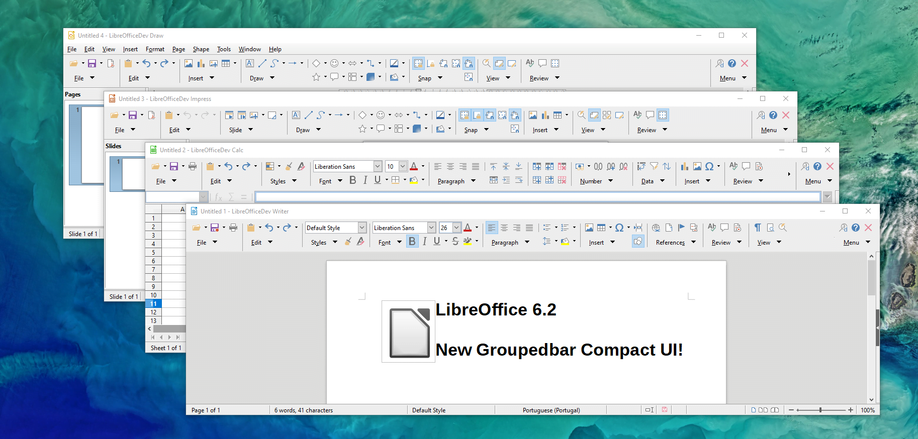 The Document Foundation annuncia LibreOffice 6.2 con NotebookBar 3