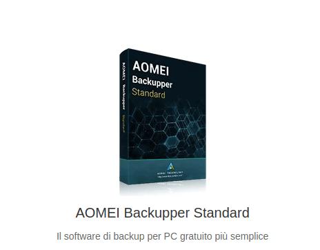 Salva i tuoi dati in modo sicuro: AOMEI Backupper Standard 1