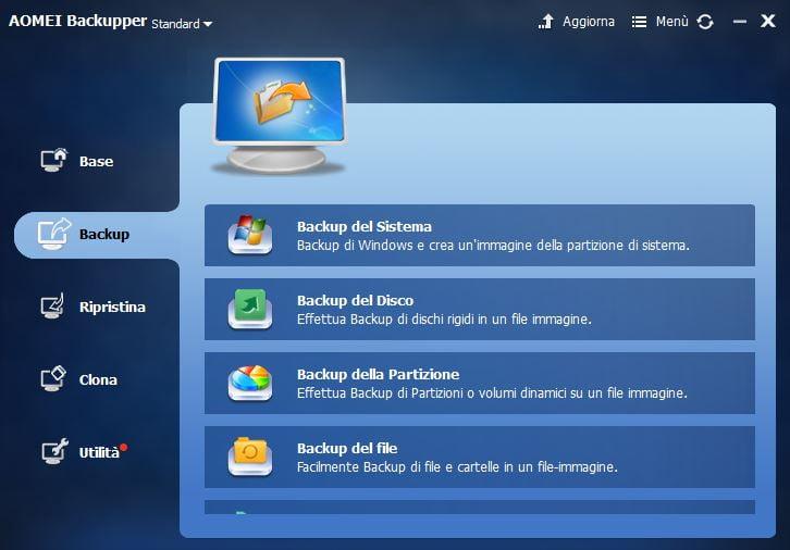 Salva i tuoi dati in modo sicuro: AOMEI Backupper Standard 4