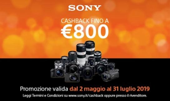Cashback su fotocamere, ottiche e camcorder professionali di Sony 1