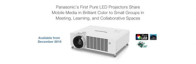 Panasonic migliora la  tecnologia di gestione del colore con la nuova serie di proiettori portatili RGB LED 1