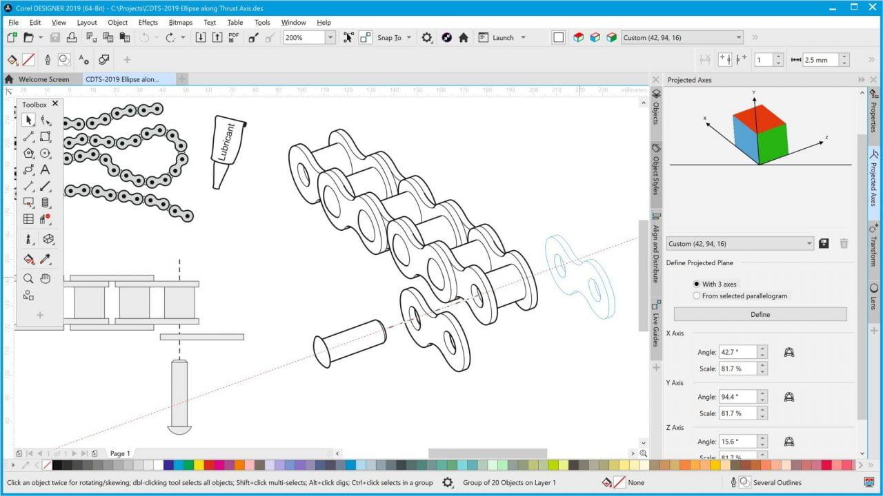 CorelDRAW Technical Suite 2019 offre precisione e controllo per l'illustrazione tecnica 3