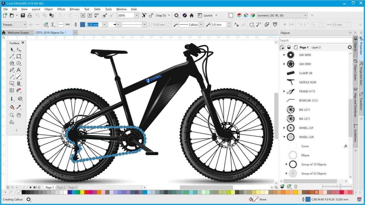 CorelDRAW Technical Suite 2019 offre precisione e controllo per l'illustrazione tecnica 2