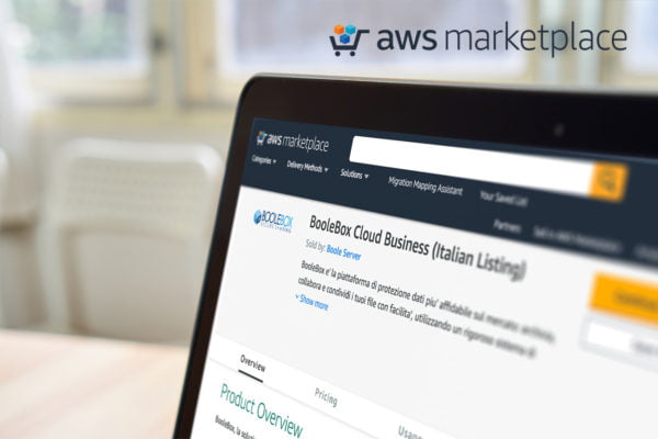 BooleBox sbarca sul Marketplace di Amazon Web Services (AWS) 1