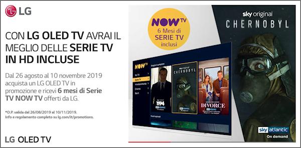 LG regala 6 mesi di serie TV NOWTV all'acquisto di un LG OLED TV 2019 1