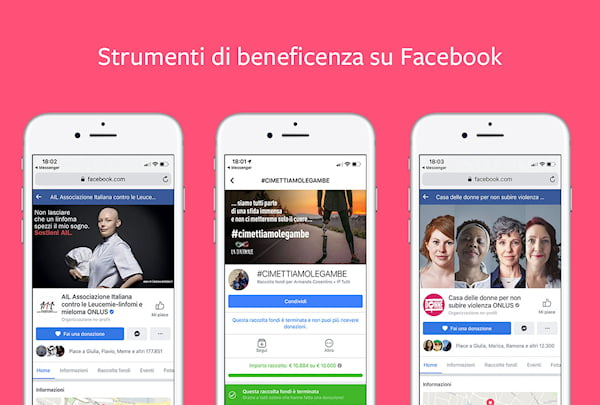 Oltre 2 miliardi di dollari raccolti tramite gli strumenti di beneficenza di Facebook 1