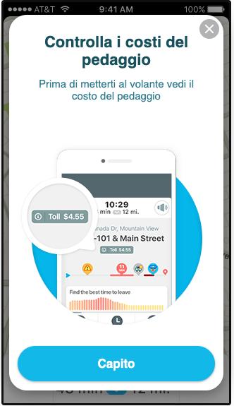 """Waze rilascia anche in Italia la funzionalità """"Costo Pedaggio"""" 2"""