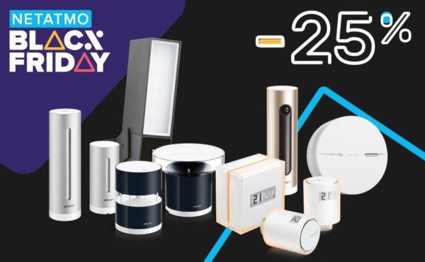 Black Friday 2019: 25% di sconto sui prodotti Netatmo 1