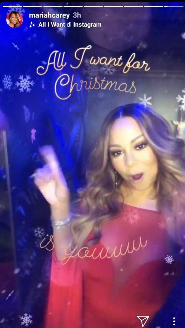 All I want for Christmas diventa un filtro per le Storie Instagram di Natale 3
