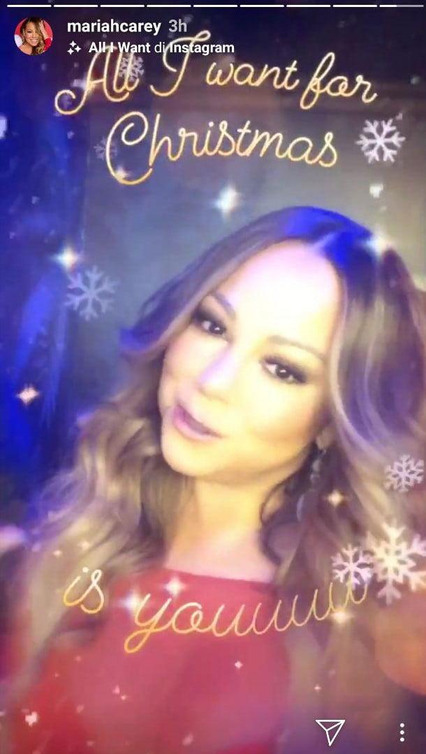All I want for Christmas diventa un filtro per le Storie Instagram di Natale 2