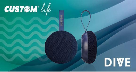 CUSTOM Life presenta Dive, il nuovo speaker portatile waterproof 1