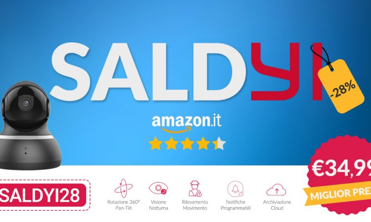 YI Technology 🔥 SaldYi Atto 3! Ecco YI Dome @ €34.99 1