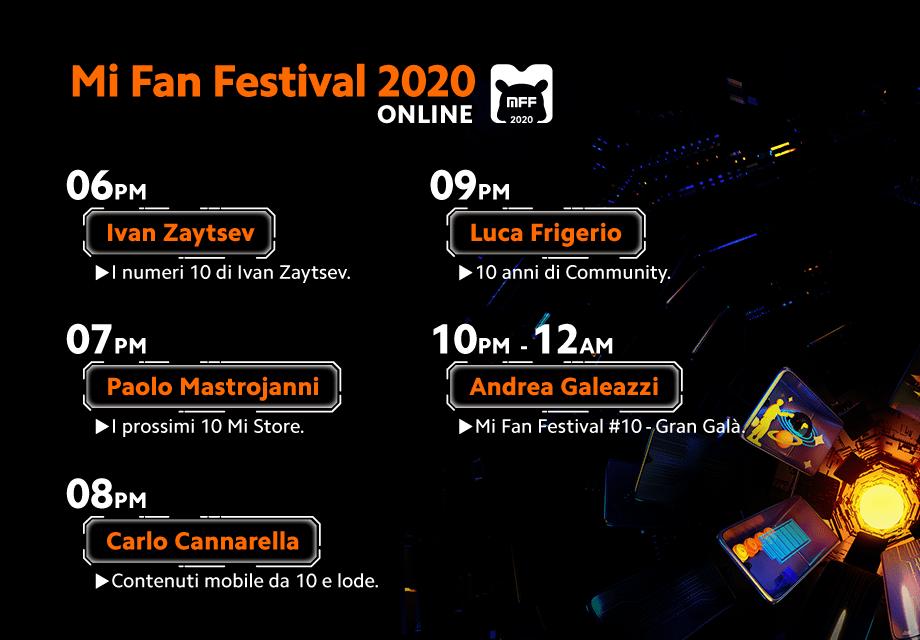 Mi Fan Festival 2020: eventi in live streaming e promo 2