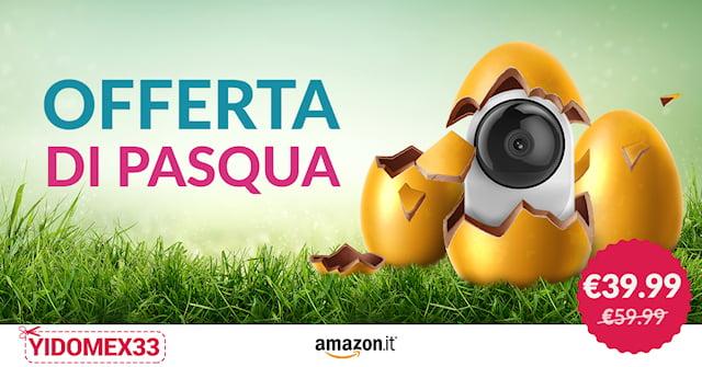 Offerta di Pasqua! YI Dome X solo €39,99 con codice sconto. 1